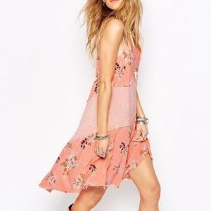 Free People Intimately Patchwork Halter Slip Dress